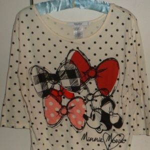 Disney Minnie Mouse Womens Top
